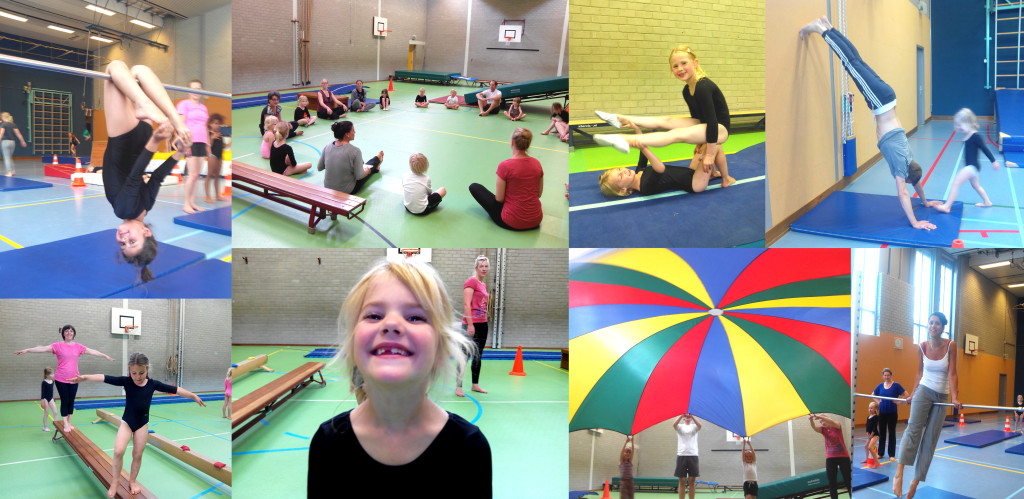 collage ouders turnen